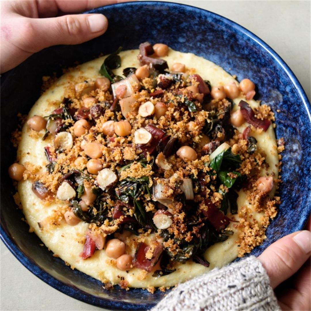 Garlicky Rainbow Chard and Chickpeas