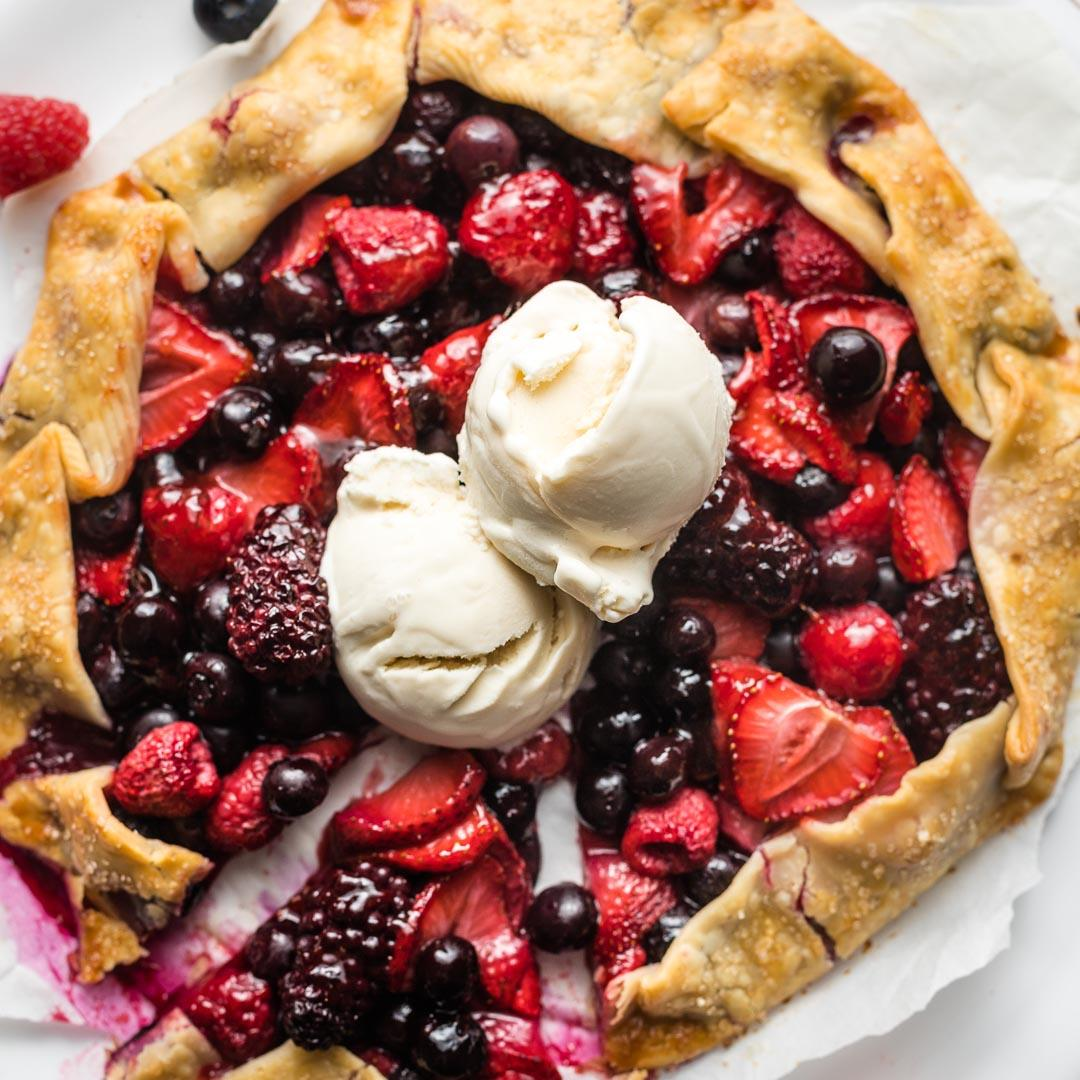 Summer Mixed Berry Galette