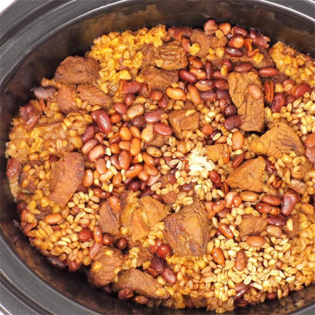 Slow Cooker Cholent