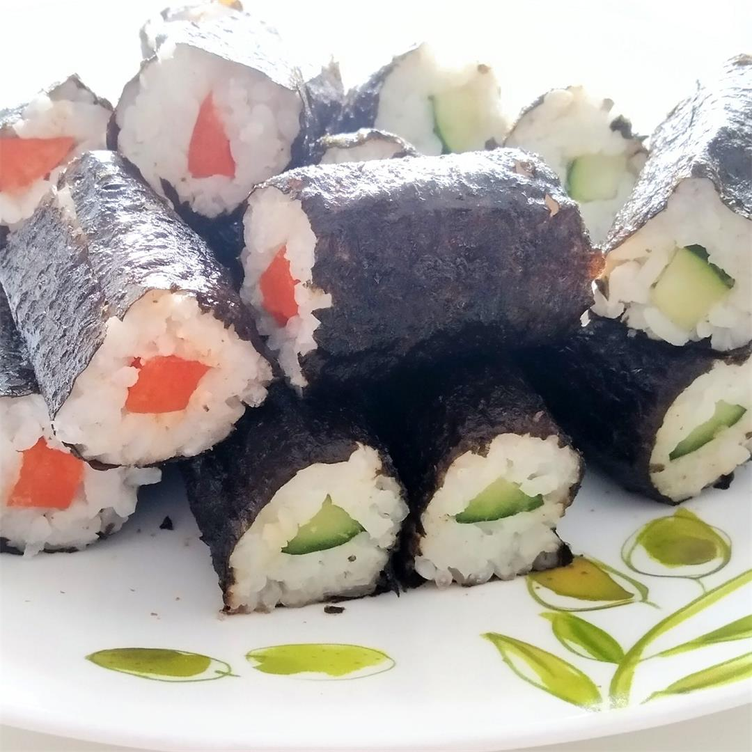 Vegetarian vegan sushi