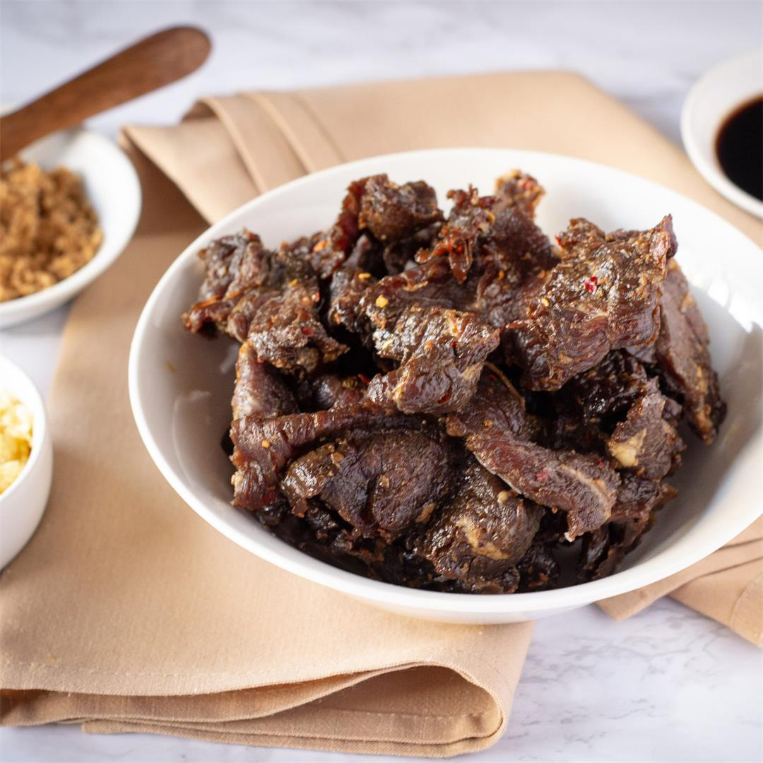 Teriyaki Air Fryer Beef Jerky