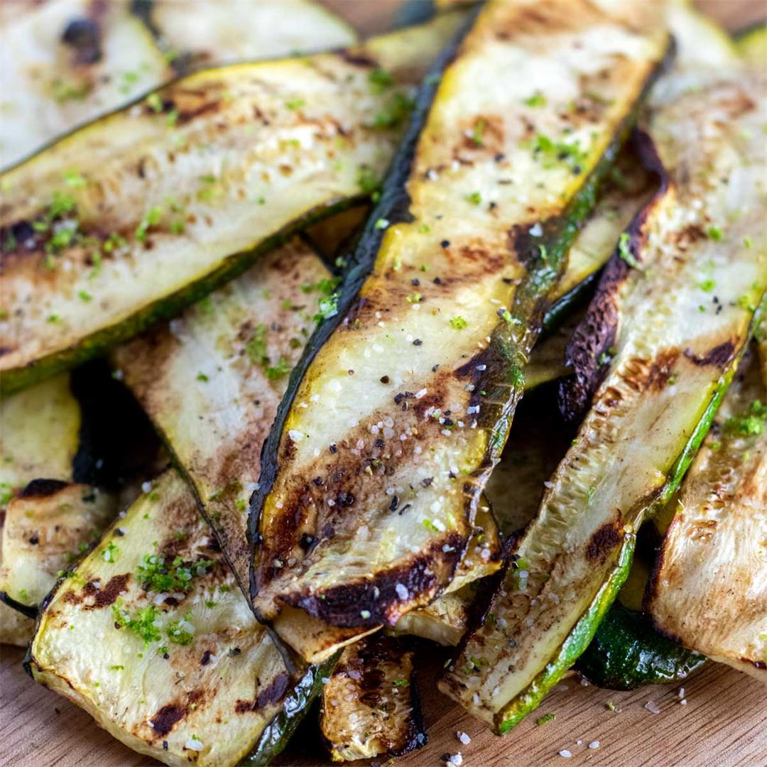 Grilled Zucchini with Lime