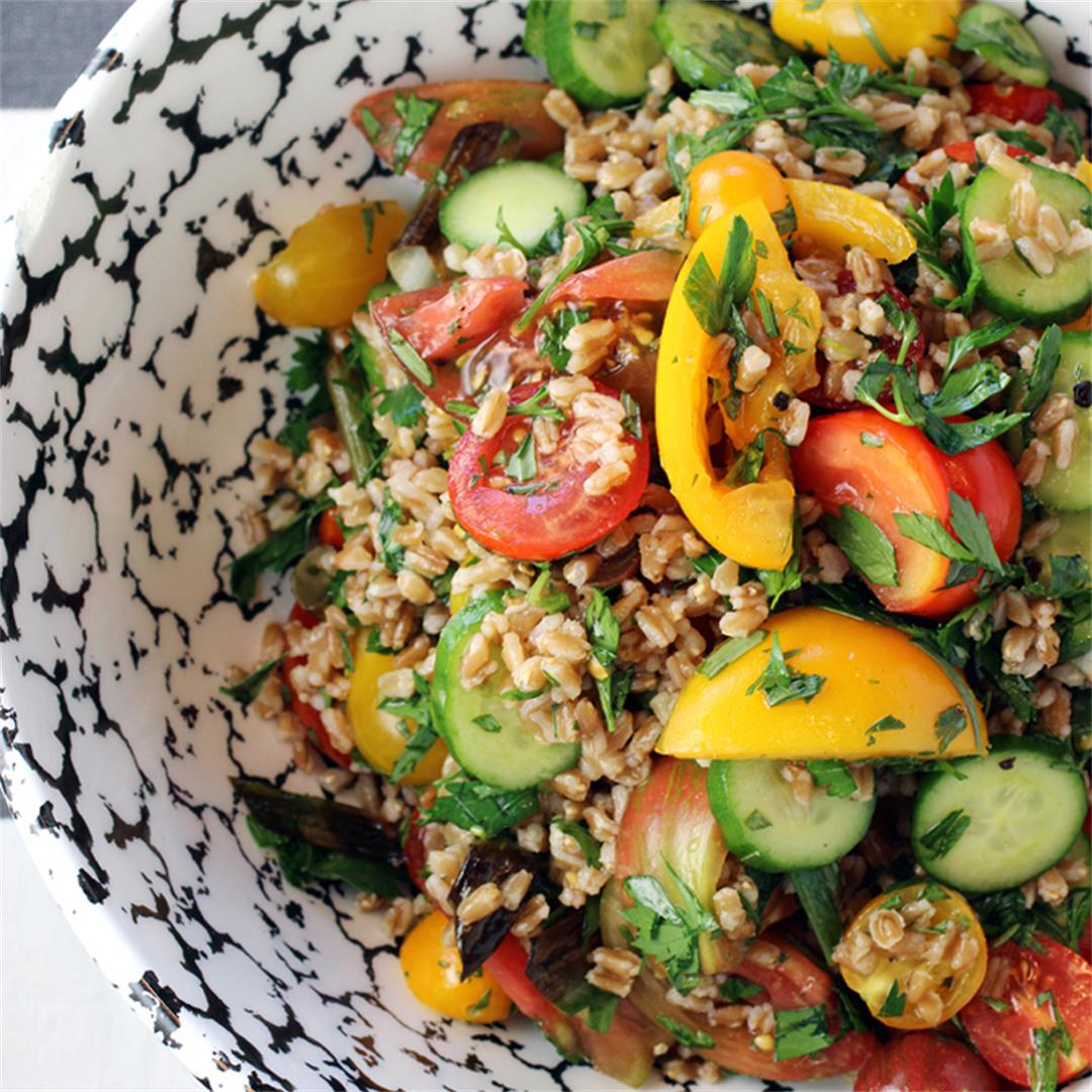 Farro and Tomato Salad with Fish Sauce-Vinaigrette