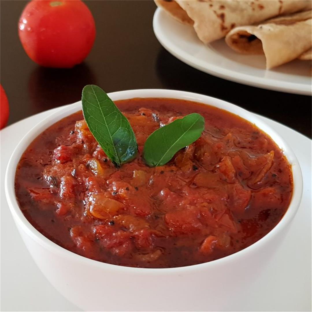 Tomato Chutney/Tomato Thokku