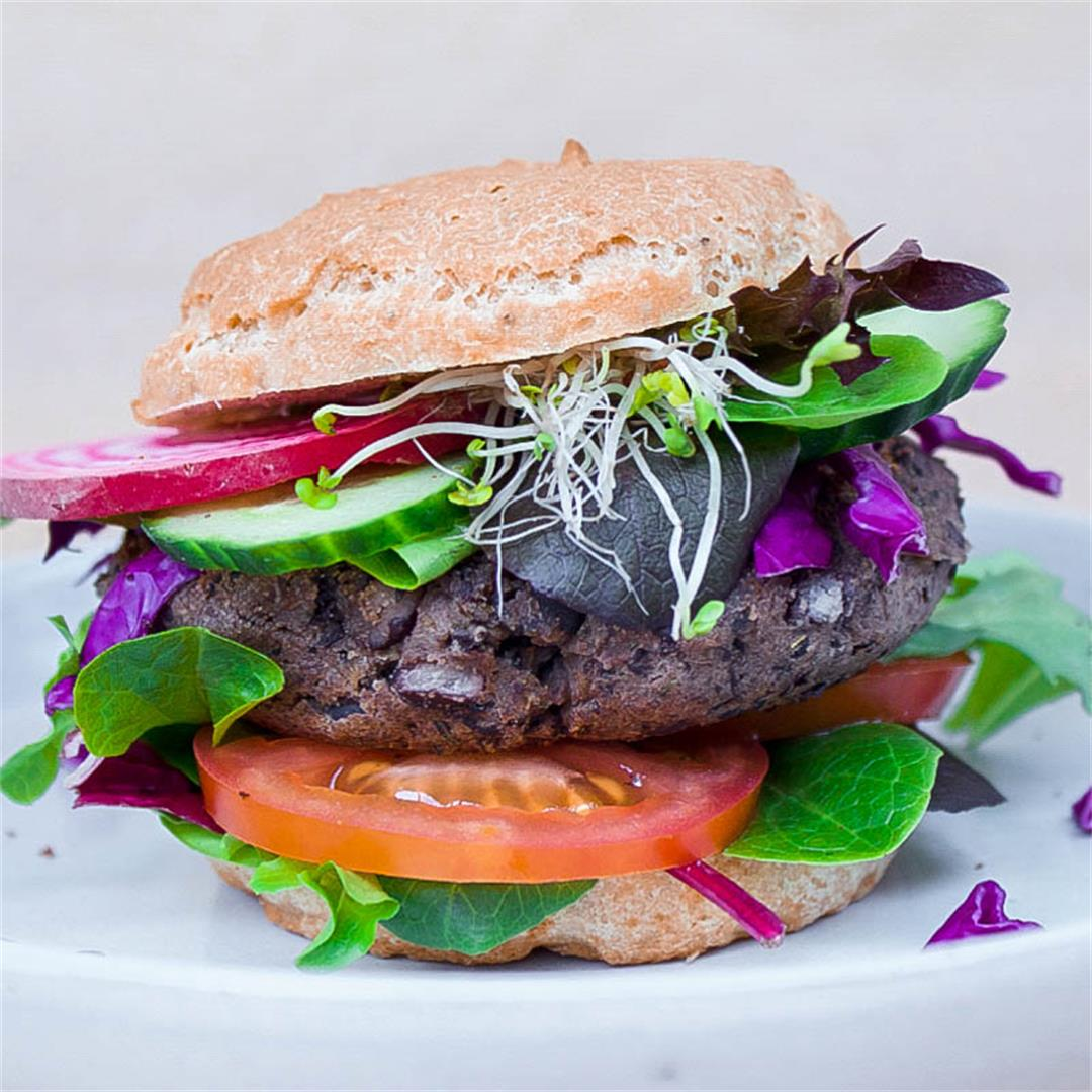 Easiest Black Bean Burgers (vegan + gluten-free)