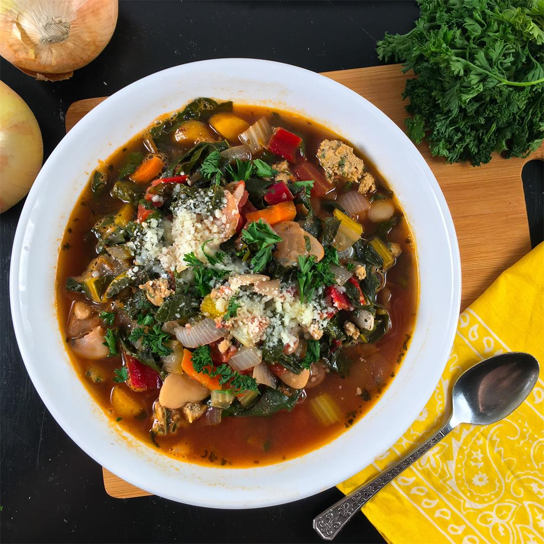 Swiss Chard Recipe (One-Pot Sausage and Bean Soup)