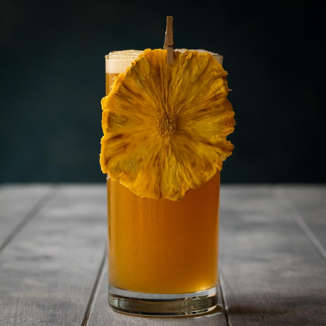 Pineapple fiz: pick me up fizz cocktail
