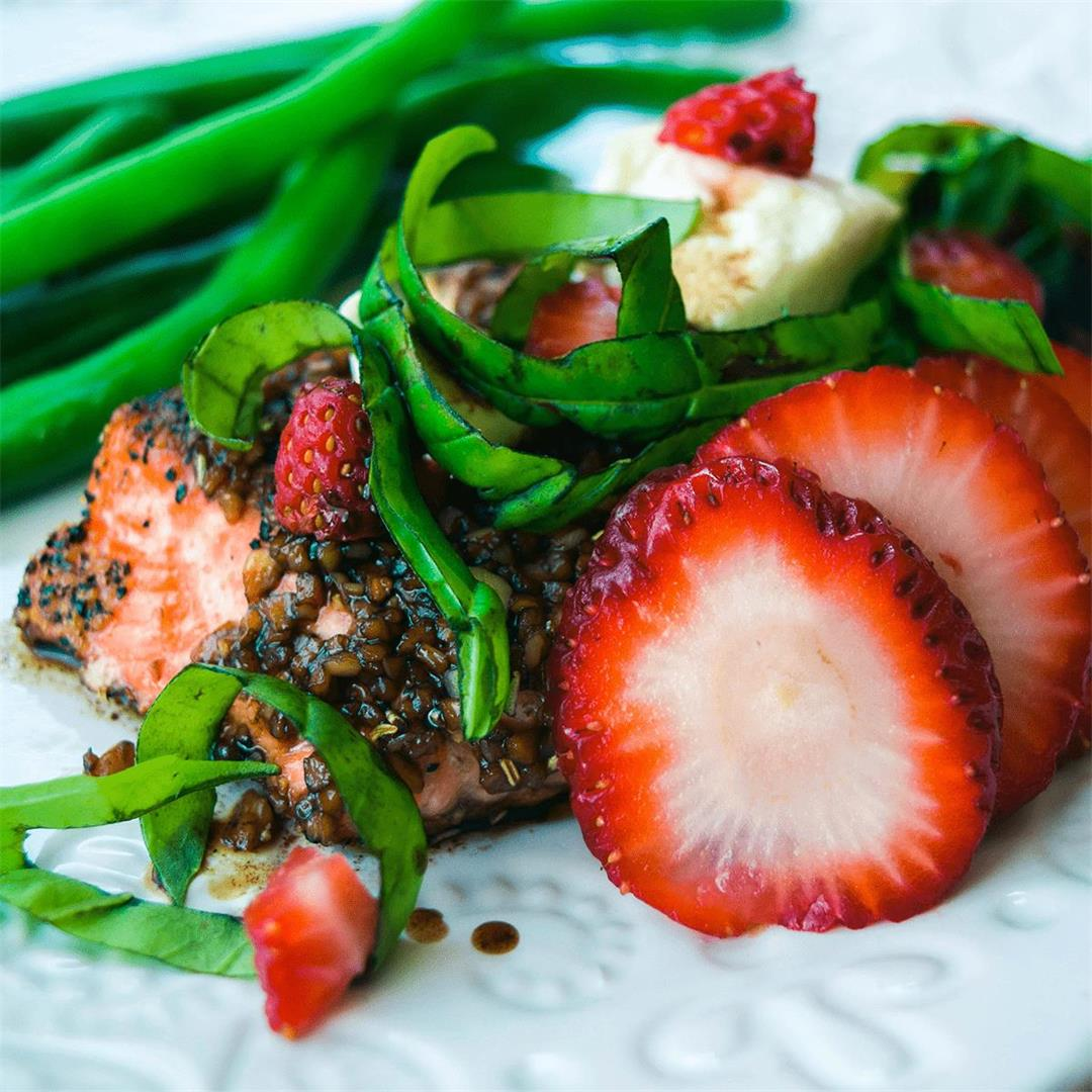 Strawberry Basil Balsamic Glazed Salmon — Foodborne Wellness