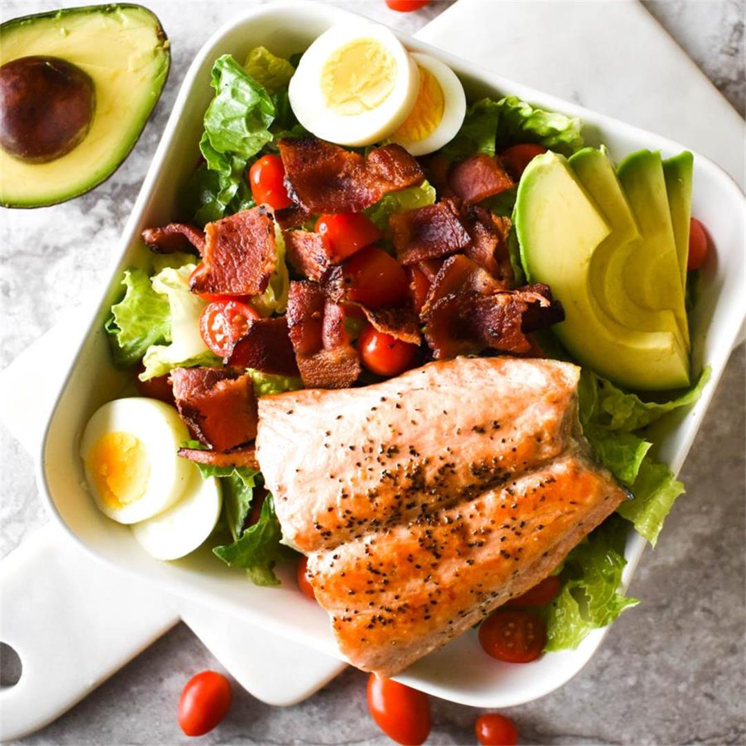 Paleo Salmon Cobb Salad — Foodborne Wellness