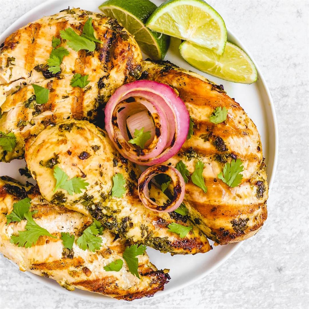 Grilled (or baked) Cilantro Lime Chicken
