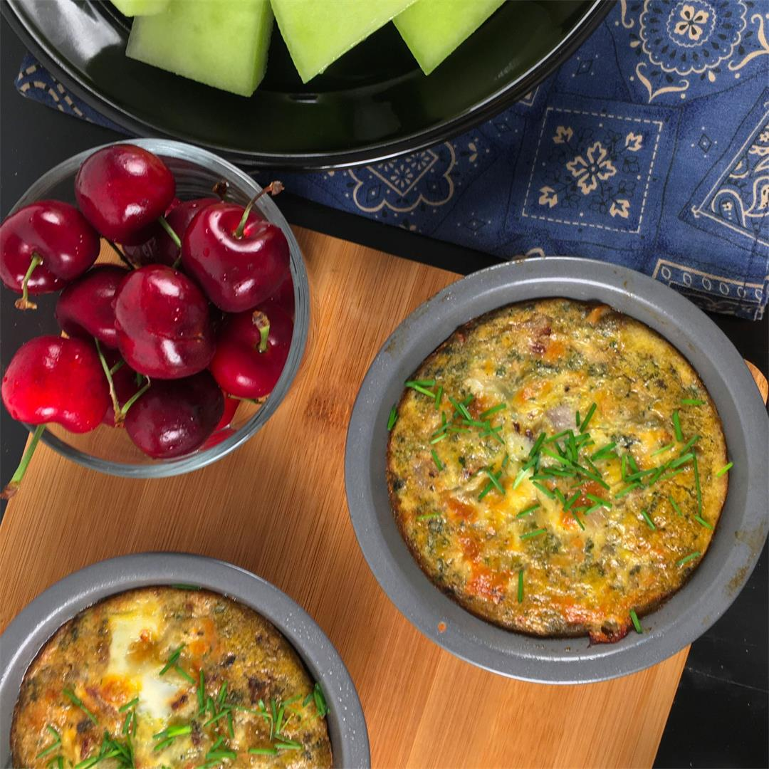 Breakfast Frittata for One (Mini Frittatas Recipe!)