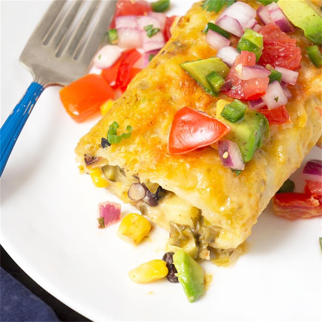 Zucchini Enchiladas with Mexican Corn Salad