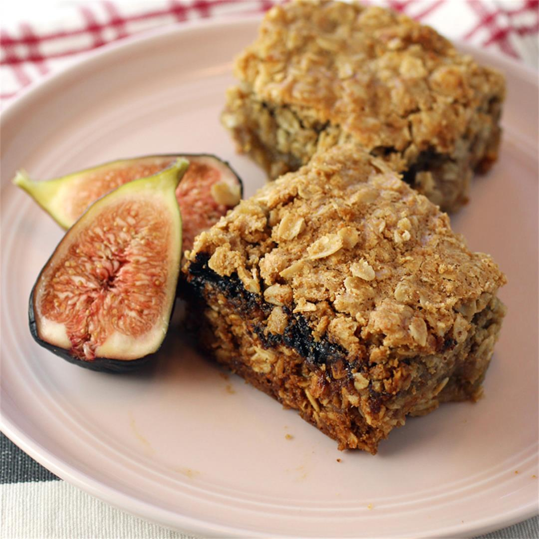 Fig Jam bars with homemade fig jam