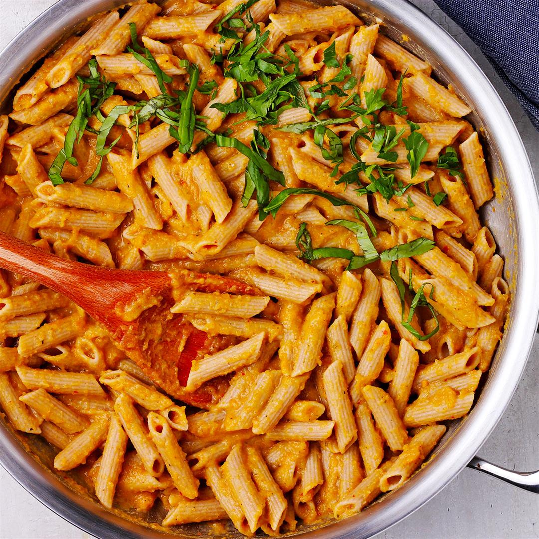 no-fuss chickpea sauce with penne