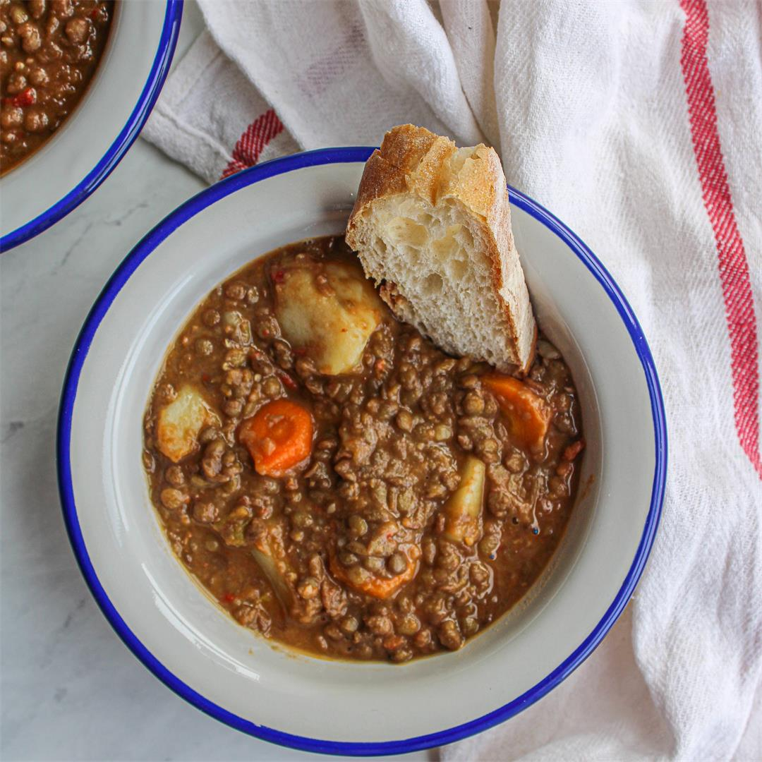 Spanish Lentil Soup (Vegan)