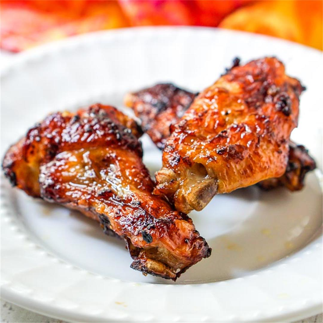 Keto Spicy Asian Wings in the Air Fryer From Frozen