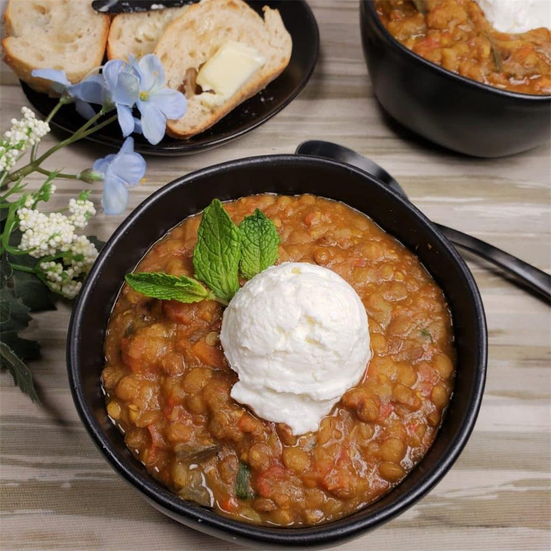 Pressure Cooker Armenian Lentil Soup, Comfort Food!