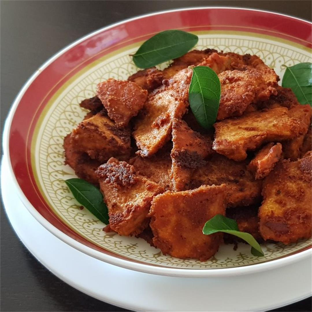 Elephant Yam Fry/ Senai Kizhangu Varuval % %| %PLATE TO PALATE