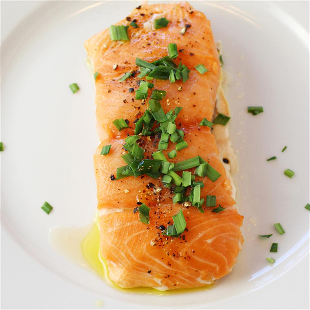 Oven-Steamed Salmon for the silkiest, softest fish ever
