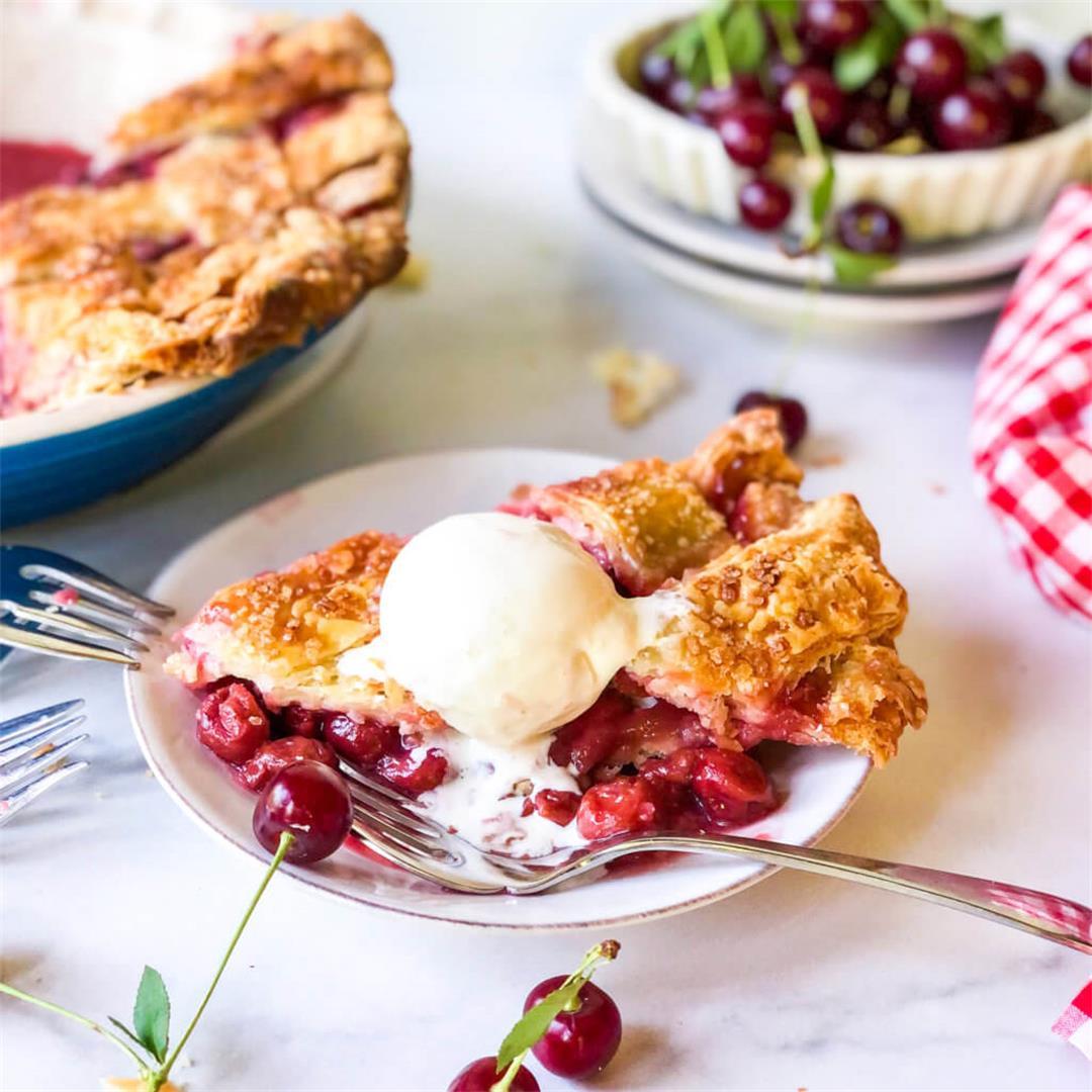 Sour Cherry Pie with Lattice Crust Recipe