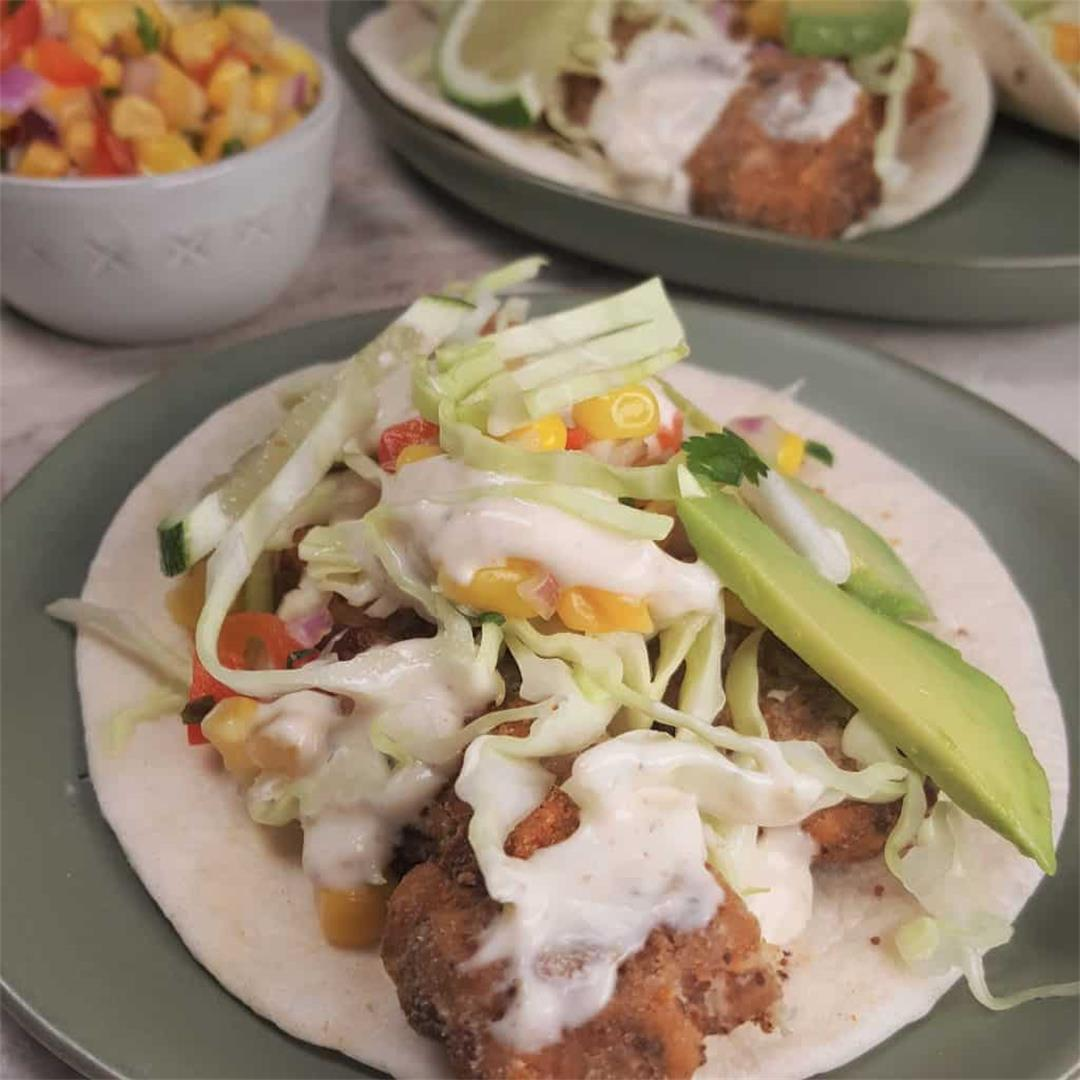 Air Fryer Baja California Fish Tacos