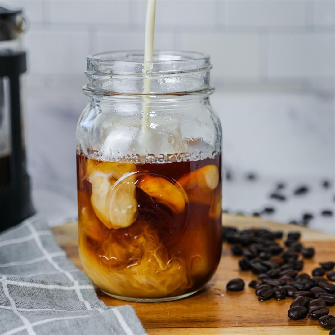 Vanilla Cold Brew Coffee Anyone Can Make at Home!