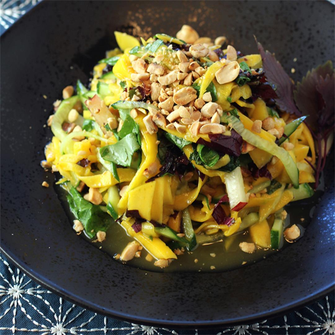 Sweet, spicy and savory Asian mango salad