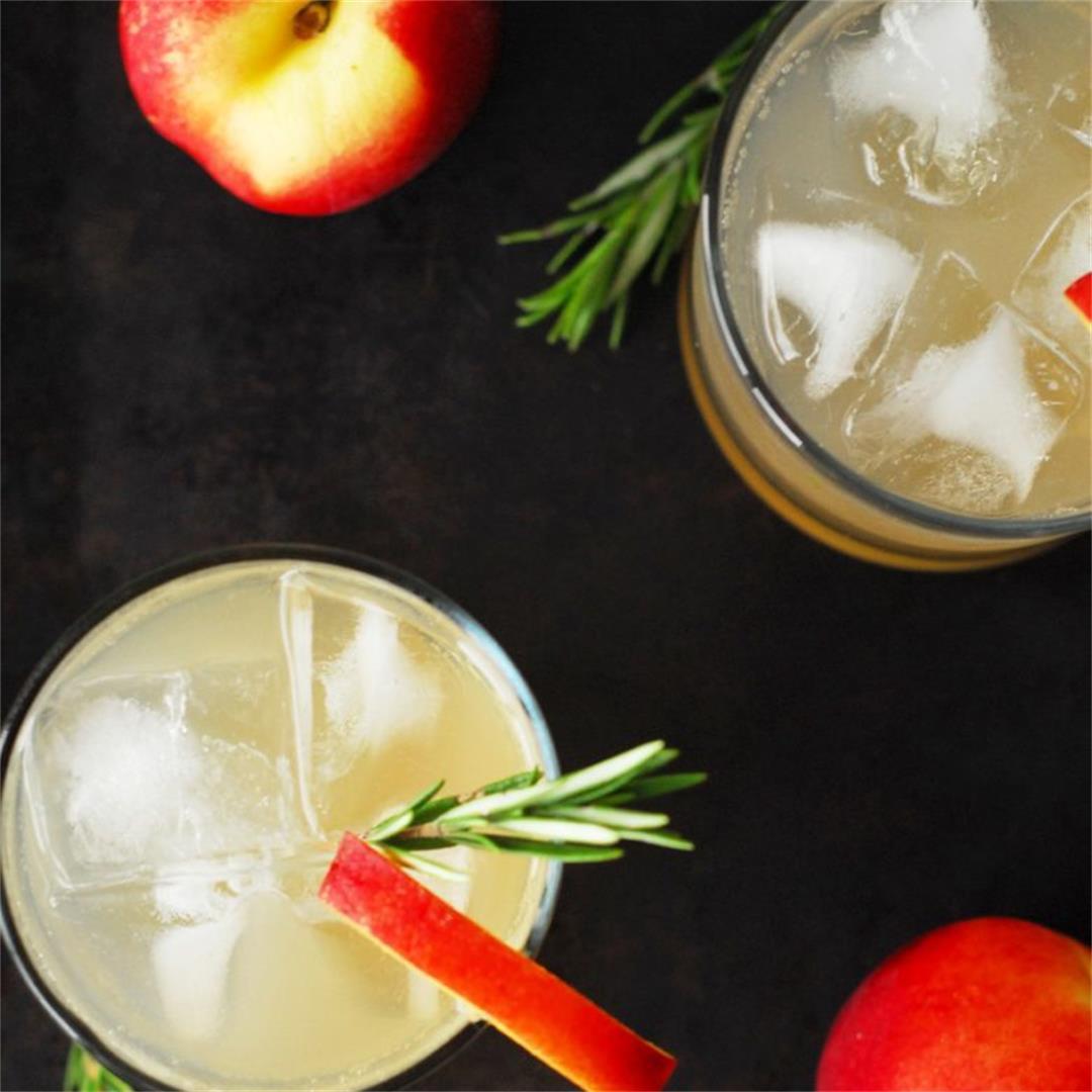 Rosemary Nectarine Whiskey Sour