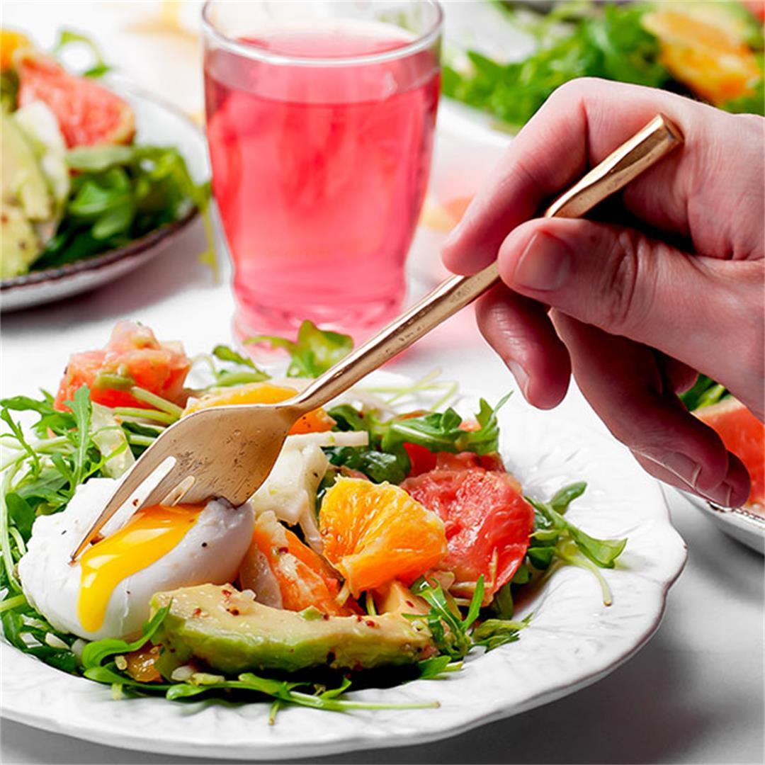 Avocado Grapefruit Salad with Simple Citrus Vinaigrette - Key T
