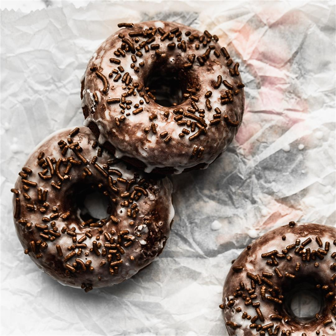 Small Batch Chocolate Donuts
