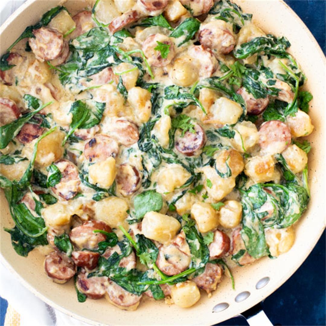Trader Joe's Cauliflower Gnocchi & Sausage Skillet