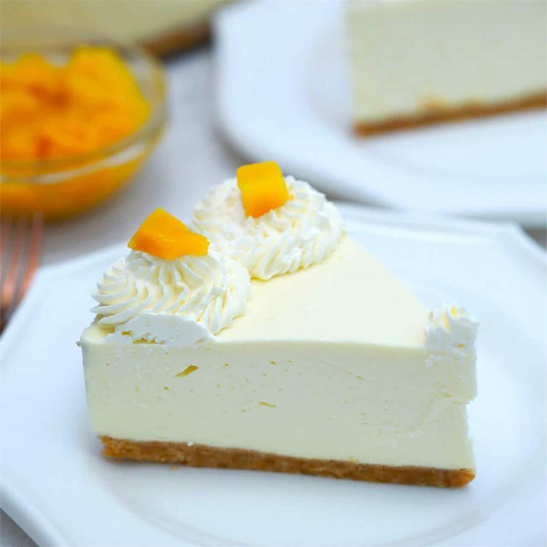 No Bake Mango Cheesecake [Video]