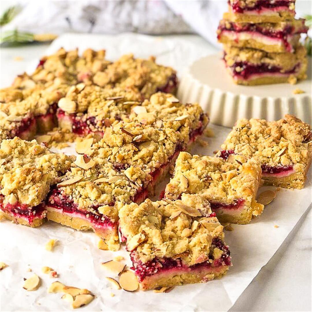 Tart Cherry Cheesecake Crumb Bars