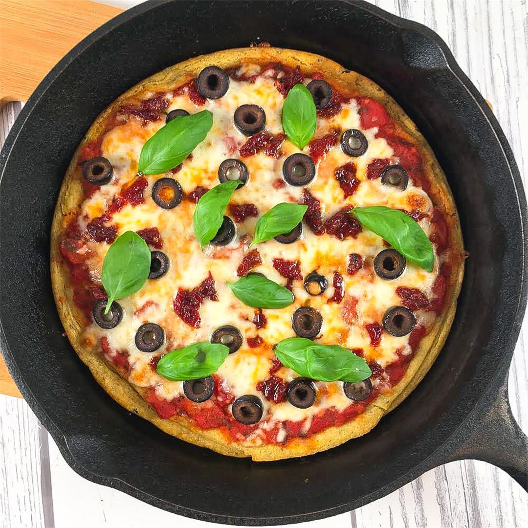 Chickpea Pizza Crust (Make a Gluten-Free Socca Pizza!)