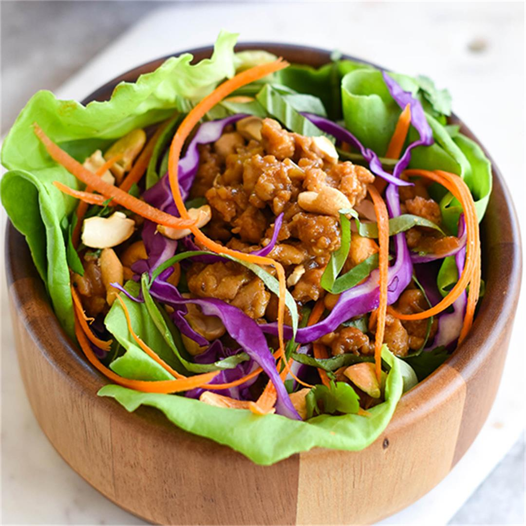 Paleo Thai Chicken Lettuce Wraps — Foodborne Wellness
