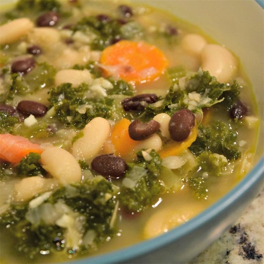 Vegan Kale And Bean Soup