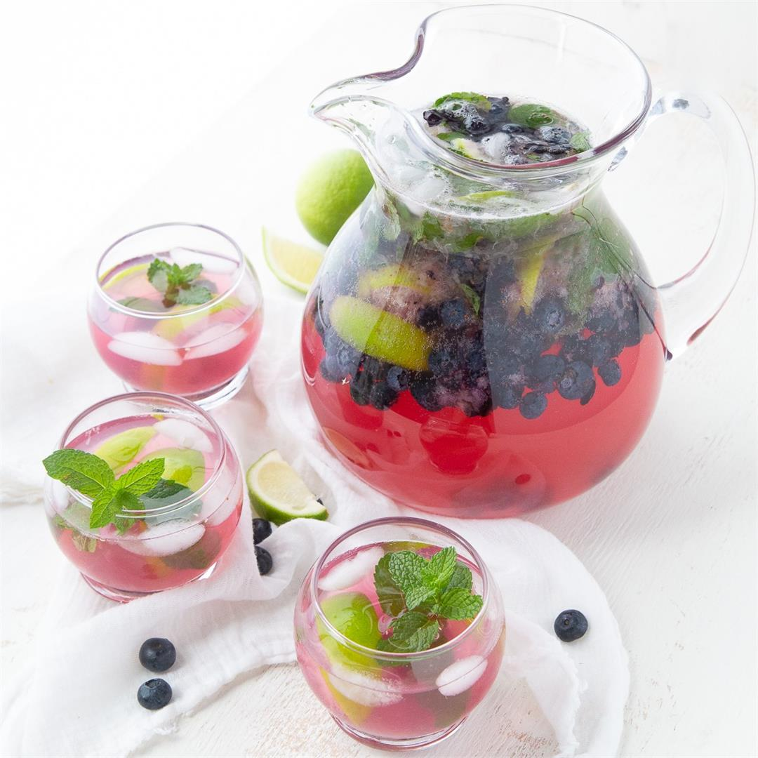 Blueberry Mojitos (Pitcher Recipe)