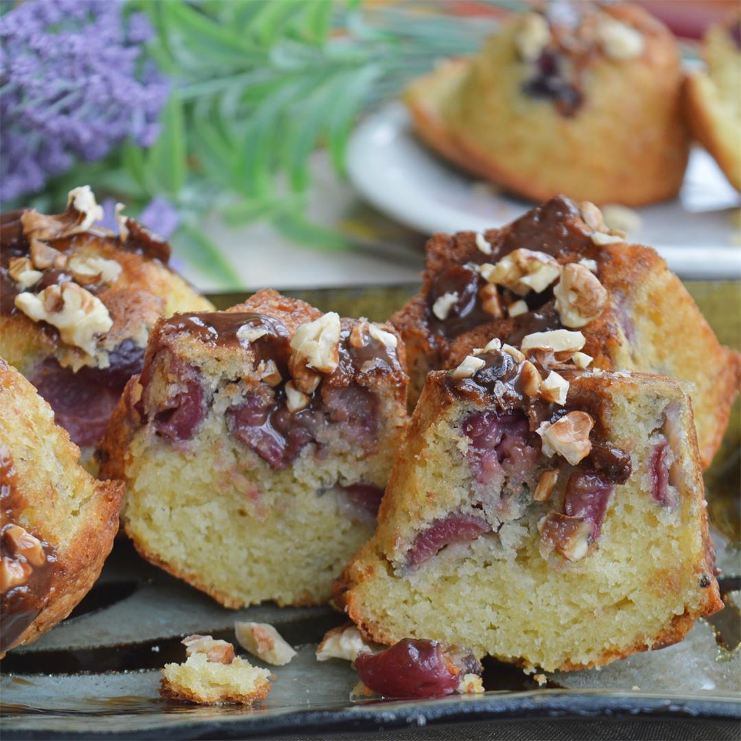 Cherry Walnut Muffins