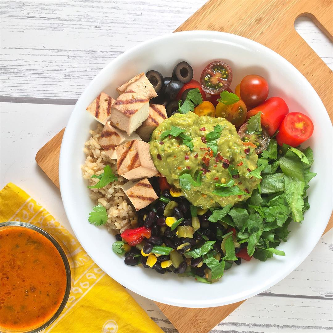 Vegan Burrito Bowl Recipe with Citrus Smoked Tofu