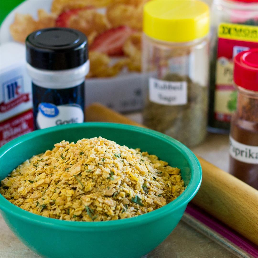 Homemade Corn Flake Crumbs with Seasoning » The Joy of an Empty