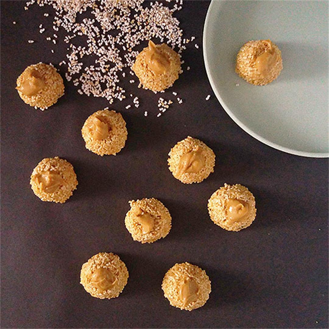 Peanut Butter Amaranth Pops Bites