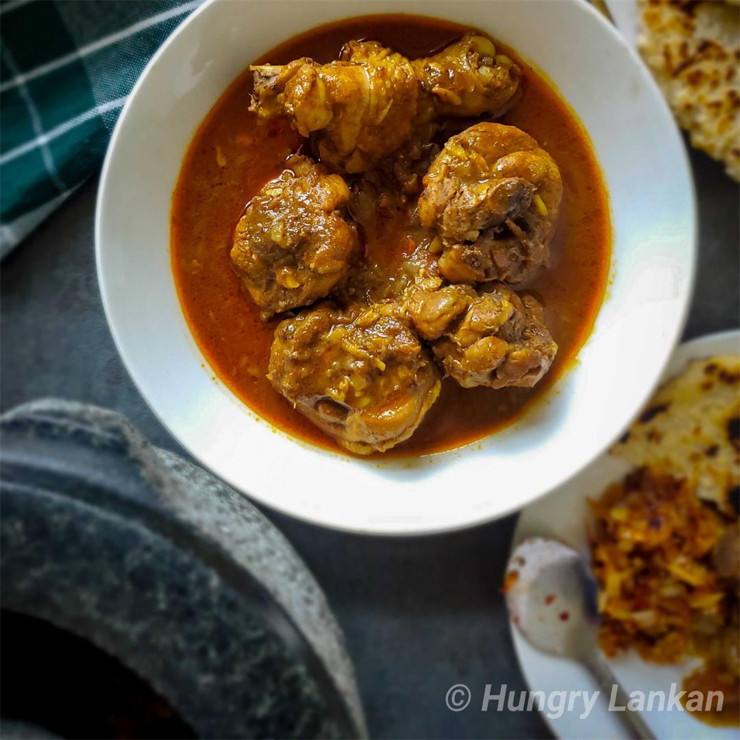 Sri Lankan Red Chicken Curry (Spicy)