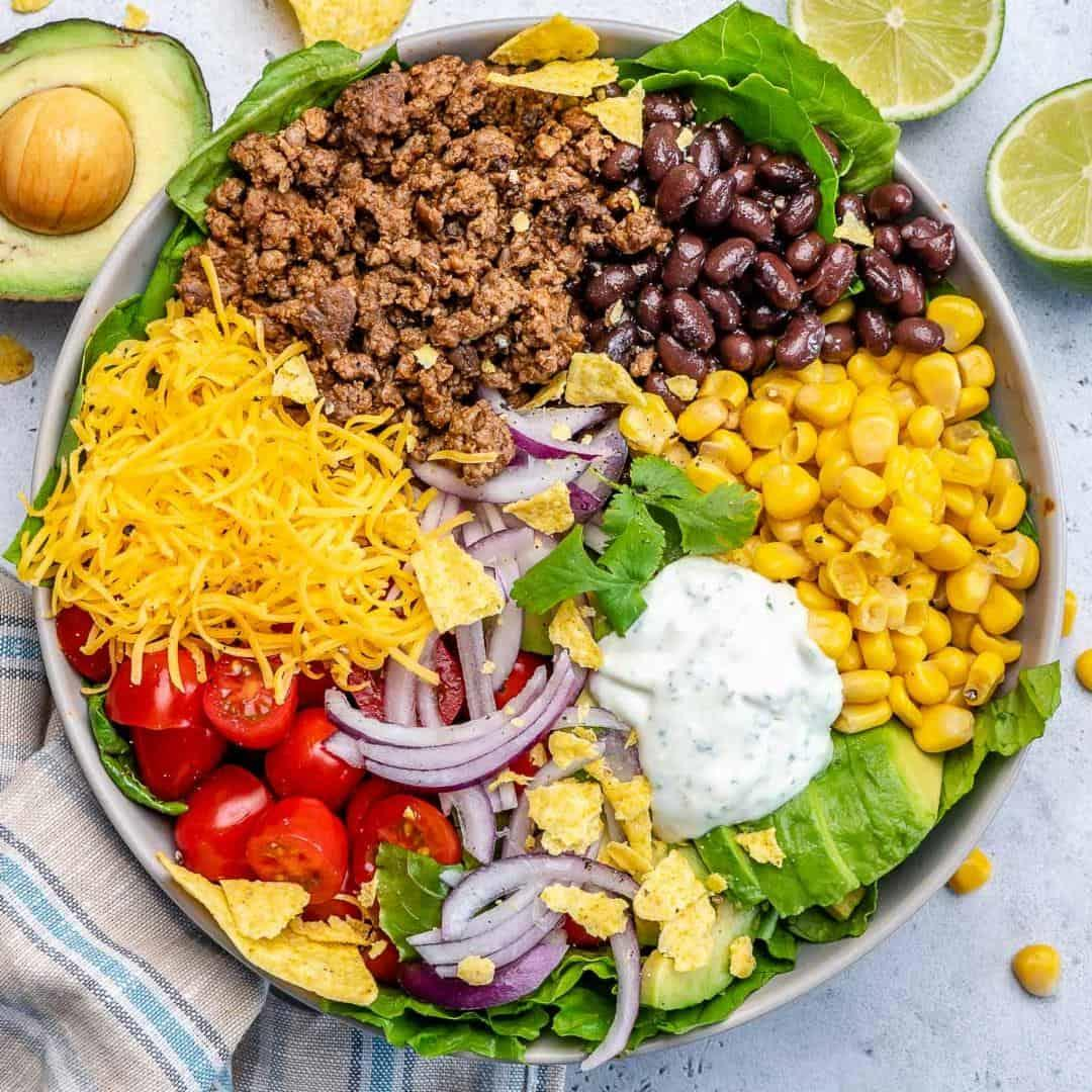 Healthy Beef Taco Salad
