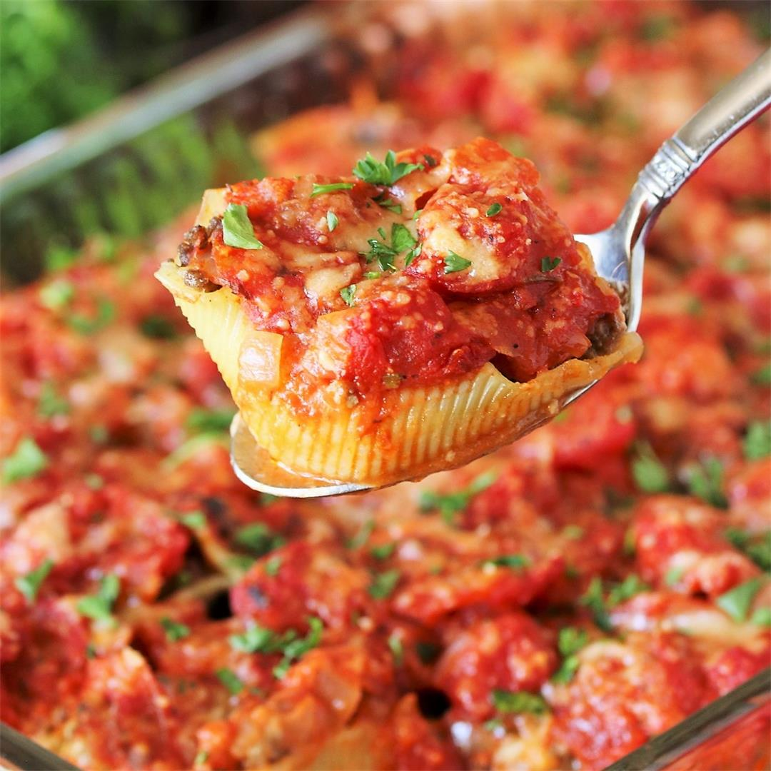 Ground Beef Stuffed Shells