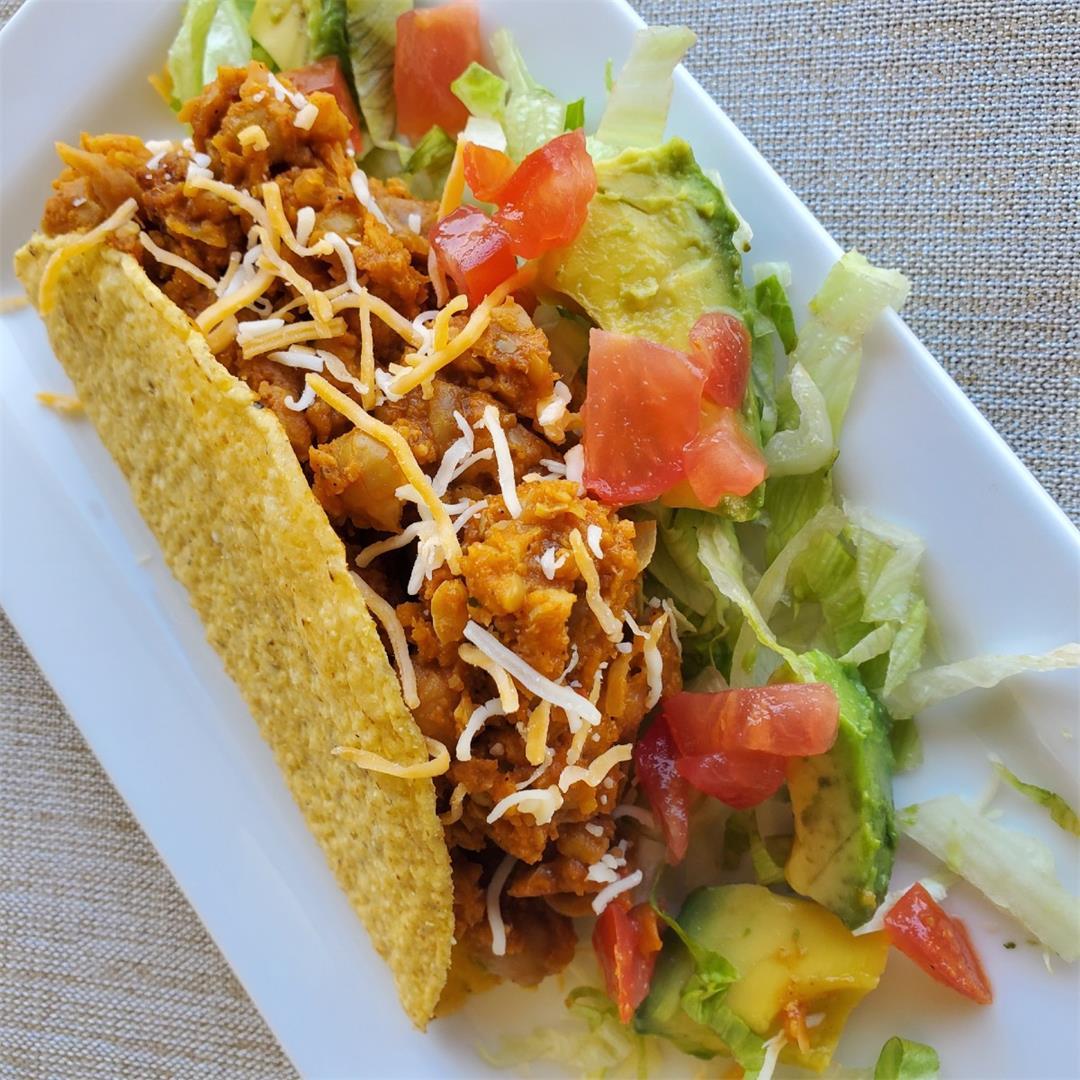 Indian Mexican Fusion Chana Masala Tacos