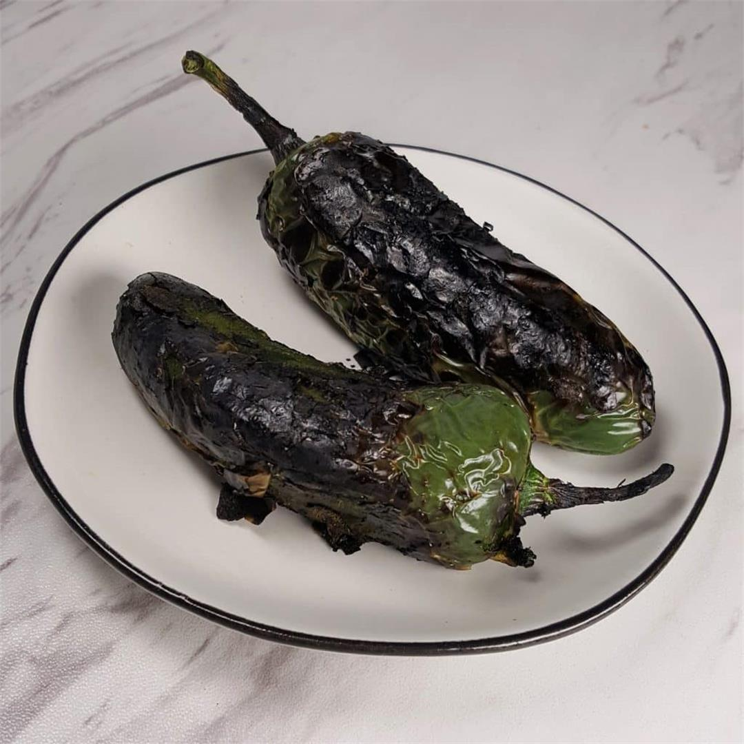 How To Roast Peppers on your stove top or air fryer.