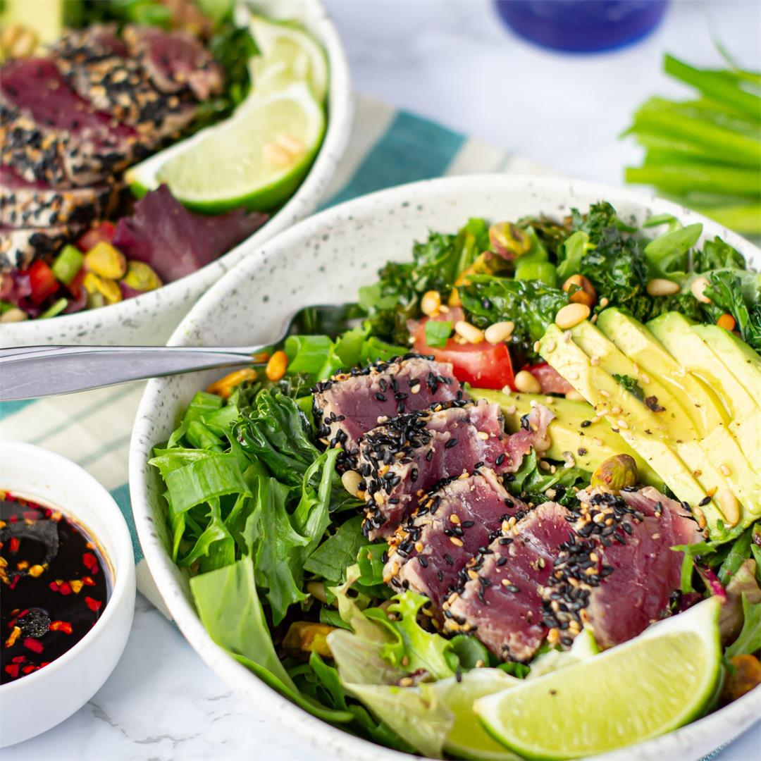 Sesame Tuna & Avocado Salad