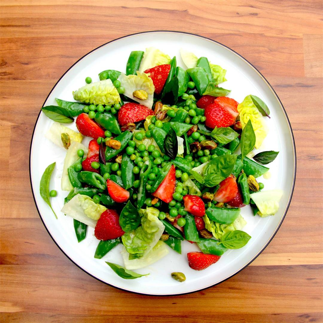 Strawberry, Pea and Basil Summer Salad
