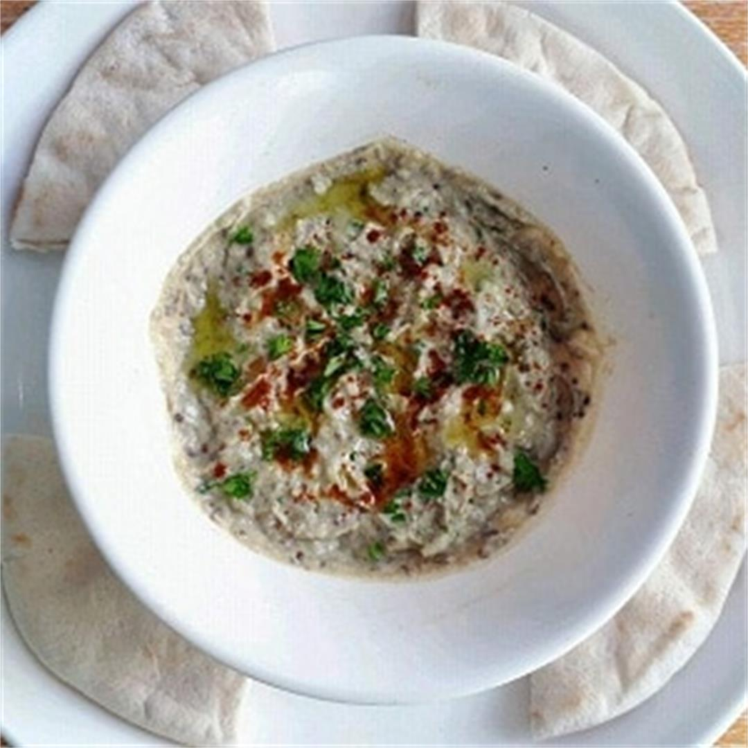 Roasted Aubergine Dip (Baba Ganoush)