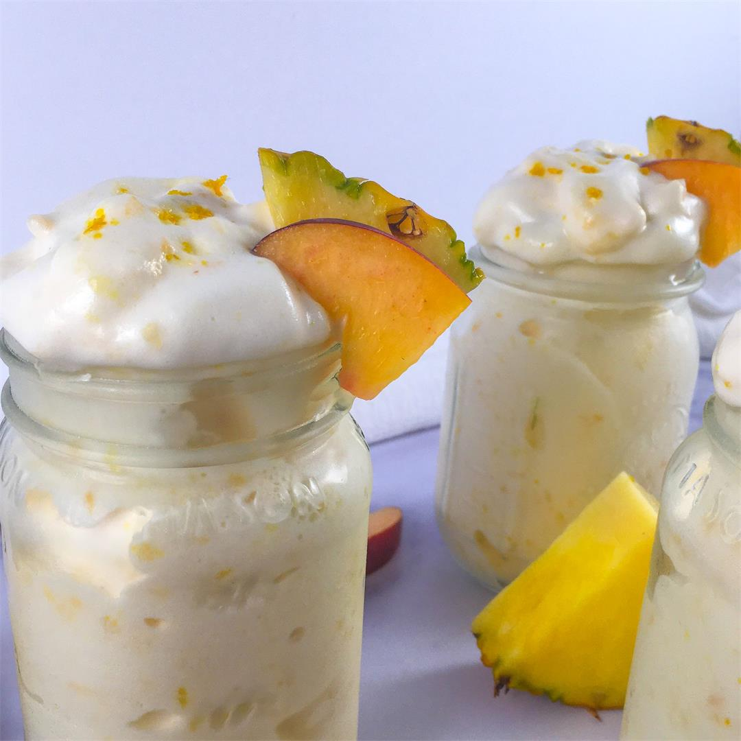 Peach Pineapple Smoothie (Low-Calorie, No Added Sugar!)